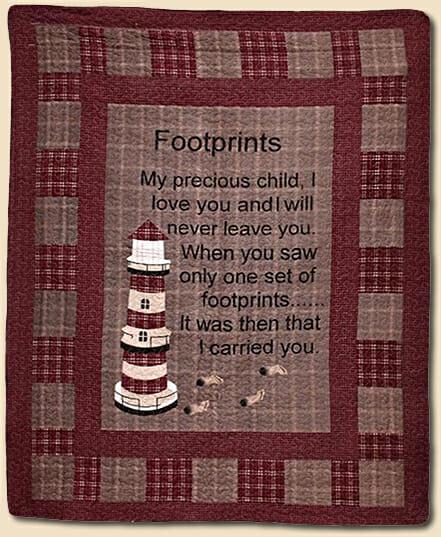 Footprints Throw Lidl Dollys
