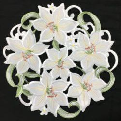 Lily Flower 12 Doilie
