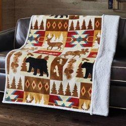 Wildlife Watch Flannel sherpa Throw