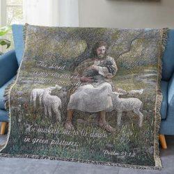 Tapestry Throw Lord is my shepherd