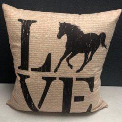 Accent Pillow Horse Love