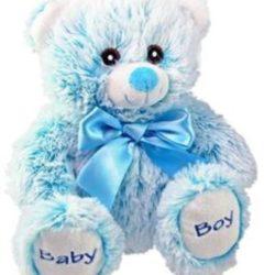 43055 bear 8in sitting blue