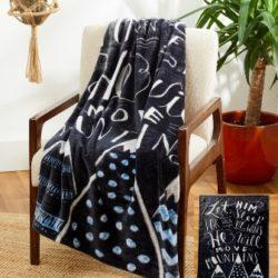 DBB107 Baby Blanket Blue Mtns