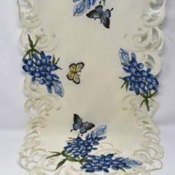 butterfly blue bonnet runner