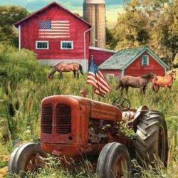 db5284-2 patriotic tractor